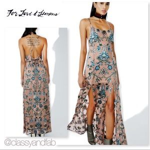 NWT For Love and Lemons Saffron Maxi Dress